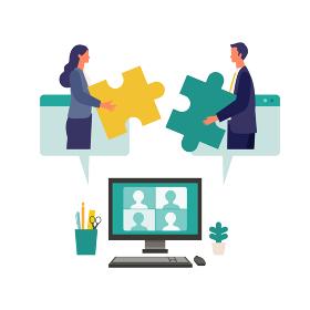 協力し合うビジネスマンのイメージ
