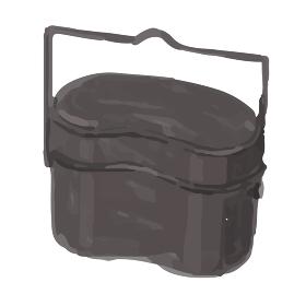 アウトドア キャンプ 飯盒炊爨 イラスト 手描き 水彩