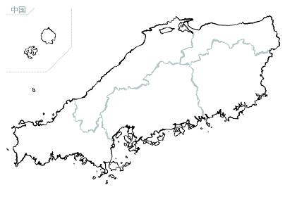 和風な日本地図 中国地方
