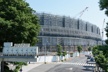 新国立競技場 建設中 2018年撮影