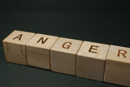 怒り(感情)のイメージ素材