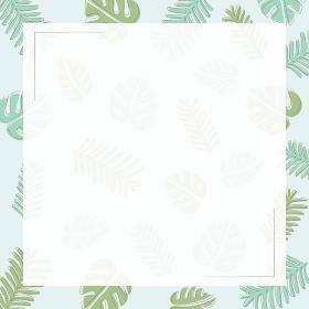夏のボタニカルフレーム(正方形)