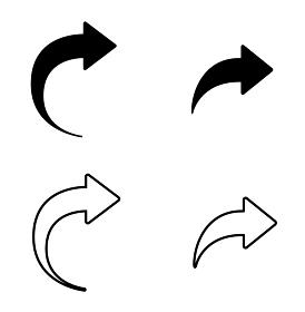 矢印の戻るやページ移動のアイコンセット
