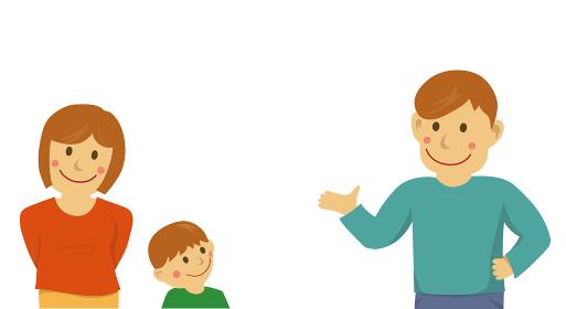 人物イラスト / 家族の トーク / 会話 / 想像