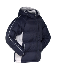 down jacket isolated in front of white background