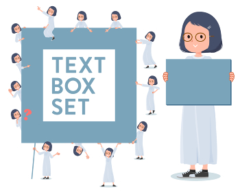 flat type White dress women_text box