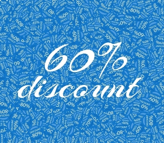 Sale labels background, end-of-season sale, discount tags percent text. Best discounts background with percent discount pattern. Blue sale background. Sale banner. Percent with numbers 60