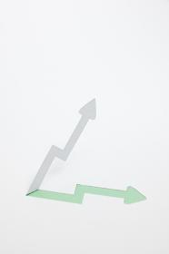 増収・上昇のイメージ