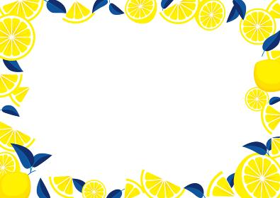 レモンのフレームイラスト