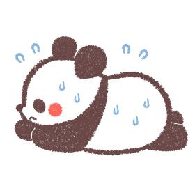 熱中症のパンダ
