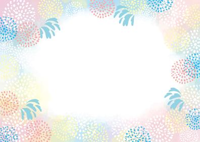 花火大会の水彩風背景素材 お祭り 夏祭り 花火 水彩 背景 フレーム