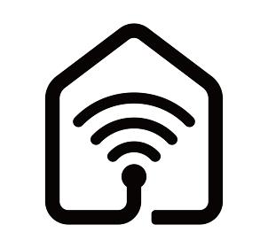 スマートホーム(スマートハウス)・家庭内wi-fiネットワーク アイコン