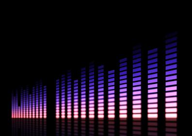 ミュージック、サウンドのイメージ パープル