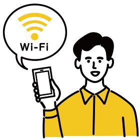 男性 スマホ スマートフォン Wi-Fi フリーWi-Fi