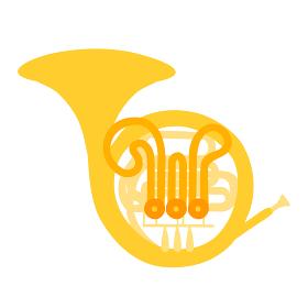 ホルンのベクターイラスト オーケストラ ブラ