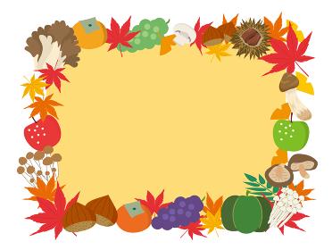 秋の味覚フレーム