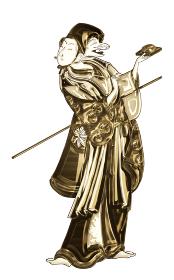 浮世絵 歌舞伎役者 その32 金バージョン