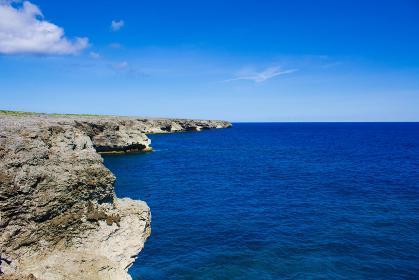 波照間島の海岸線