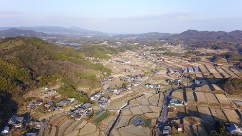 日本の田園風景ドローン撮影・淡路島