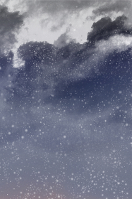 暗く静かな夜の星空背景 縦