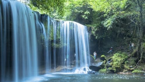 熊本県 小国町の鍋が滝