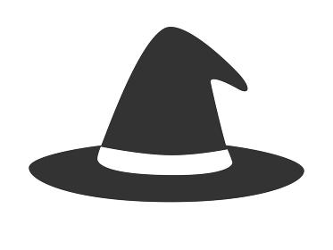魔女の帽子のアイコンイラスト