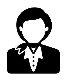 シルエット人物 ベクタアバターイラスト / スチュワーデス・キャビンアテンダント・バスガイド・添乗員