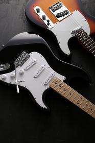 エレキギターの集合写真