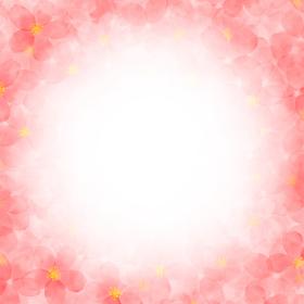 水彩画の桜イラスト フレーム
