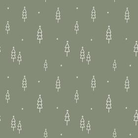 手描きツリーのシンプルなシームレスパターン