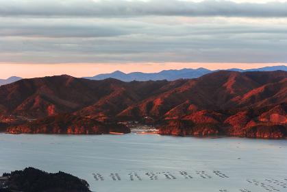 日本の国立公園・岩手県、三陸の日の出風景
