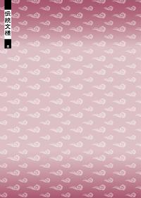 和柄のイラスト背景|日本の伝統模様 雲文様 縦位置