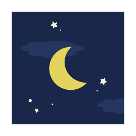 シンプルな夜イメージの角型アイコン