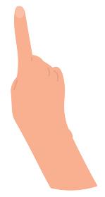 上向きの手 カラー 爪あり