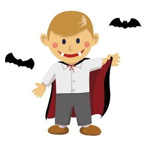 ハロウィン 子供の仮装イラスト