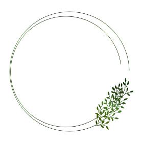緑の小枝のフレームイラスト 2