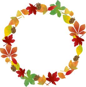秋の紅葉:カラフルな秋の葉の色づいた背景素材