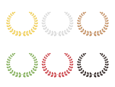 月桂樹 金銀銅セット