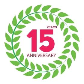 Template Logo 15 Anniversary in Laurel Wreath Vector Illustration EPS10. Template Logo 15 Anniversary in Laurel Wreath Vector Illustratio