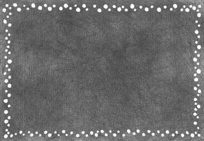 鉛筆手描きのドットフレーム 黒板 水玉背景
