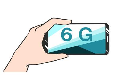 スマホを持つ 6G 横画面