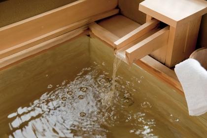 箱根温泉の源泉掛け流し