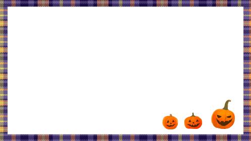ハロウィンのかぼちゃ フレーム背景