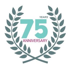 Template Logo 75 Anniversary in Laurel Wreath Vector Illustration EPS10. Template Logo 75 Anniversary in Laurel Wreath Vector Illustratio