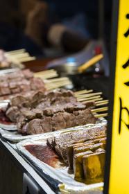 祭りの食 串焼き