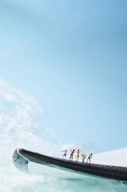 フィギュア サーフィンを応援する観客