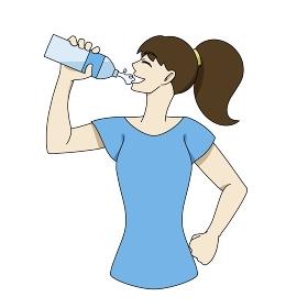 水分補給 ペットボトル 女性