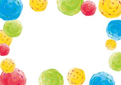 ヨーヨーのカラフルかわいい背景素材 夏 夏休み 夏祭り お祭り 縁日
