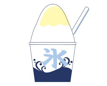 夏祭りイラスト素材 かき氷(2色パステルカラー)