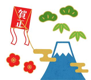 富士山と凧